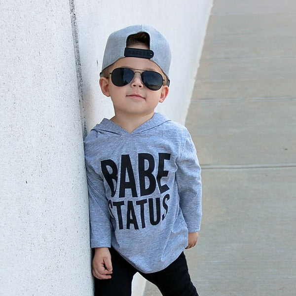 Babe Status Hooded Tee (grey)