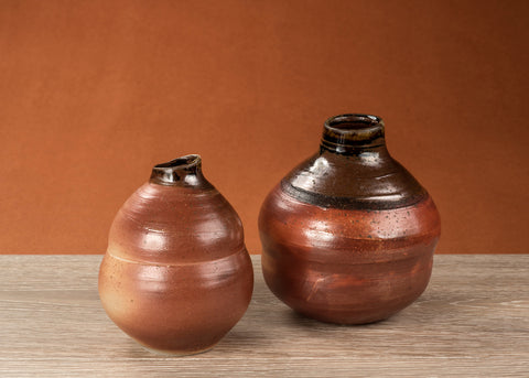 two gourd shaped vases named Peak to Peak made by Julie Naster