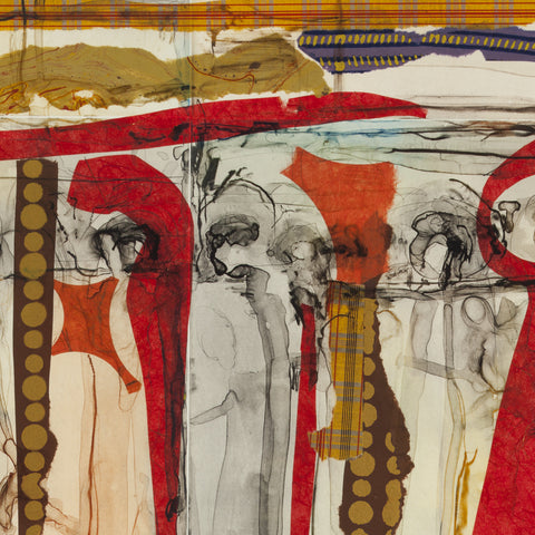 Typical Detail of the Tribal March Series, Jane Shepherd Braley, Fine Art Printmaker