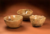 Bird Nest Ruffled Bowl Set of 3 - plus 3 baby bird bowls and a spoon - 52RHODA
