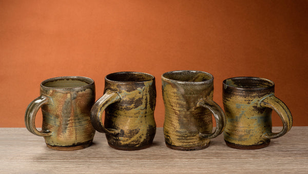 Miner's Mug #851 - Set of 4  Mugs - Uniquely fired - 52RHODA