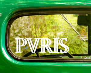 2 PVRIS Band Decal Stickers
