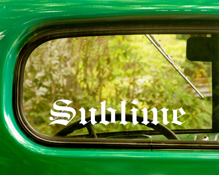 2 SUBLIME Band Decal Sticker