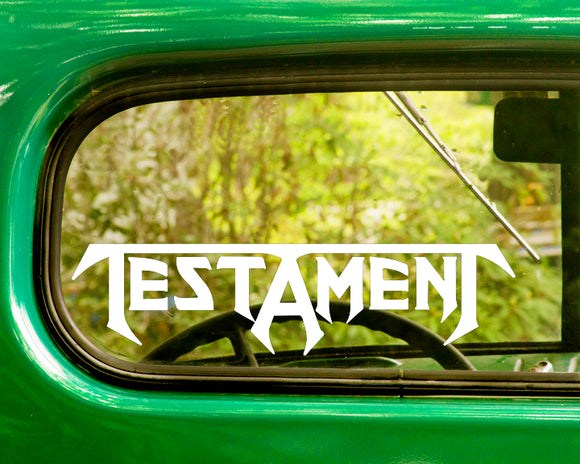 2 testament band decal stickers the sticker and decal mafia