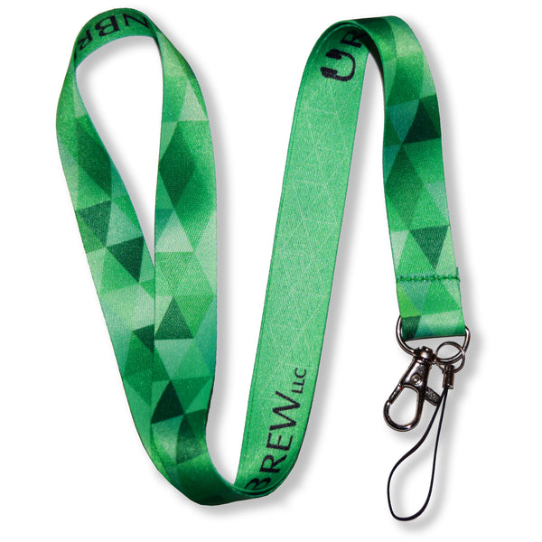Geometric Camo Lanyards - Blue/Green/Pink/Black