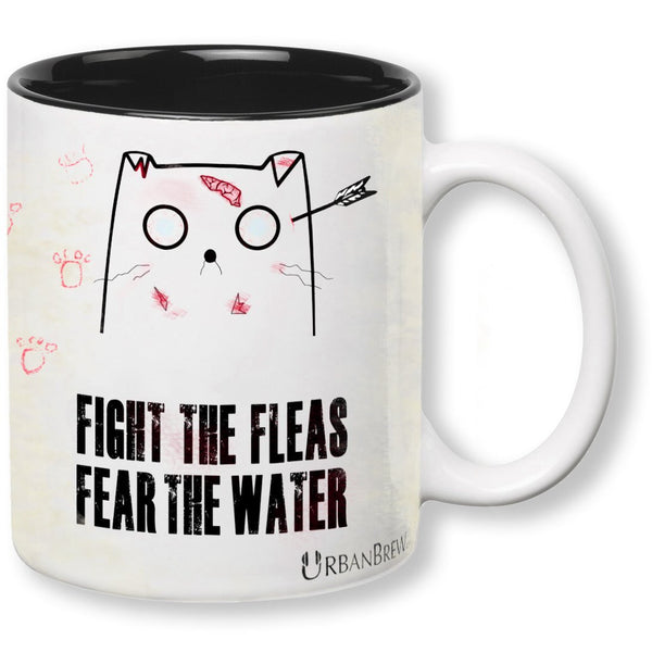 "Urbe The Zombie Cat - ""FIGHT THE FLEAS FEAR THE WATER"""