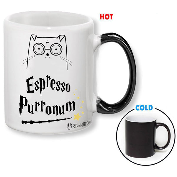 Urbe the Wizard Cat Espresso Purronum - Heat Reactive Mug