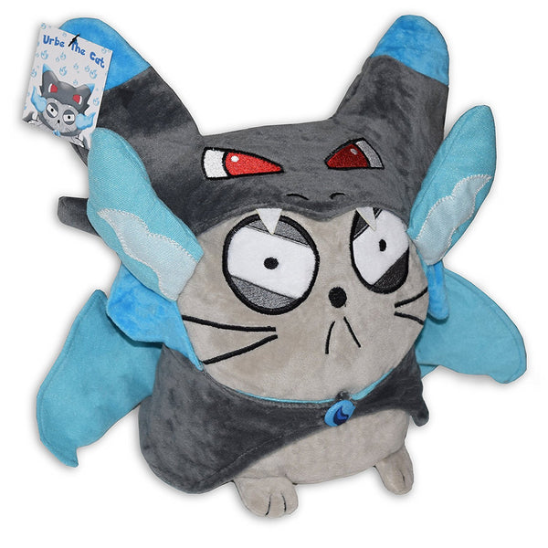 Urbe The Cat Mega Charizard X Pokemon Plush Toy