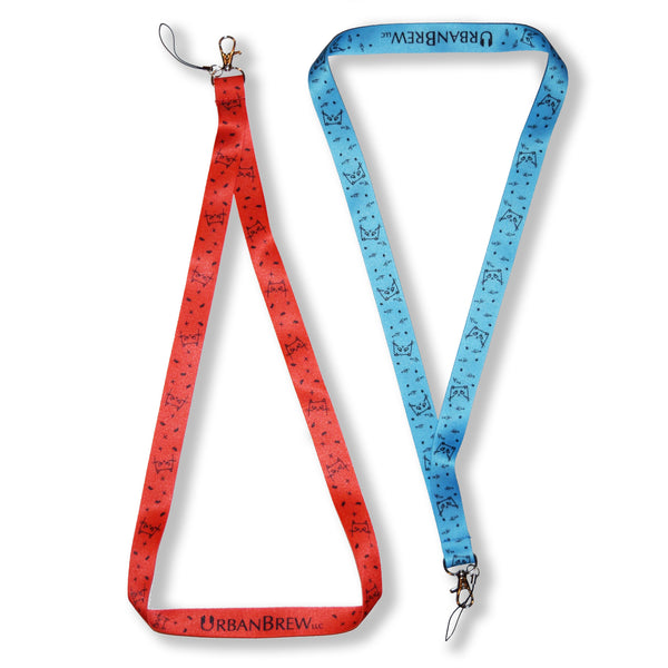 Urbe The Cat Lanyard - Blue/Red