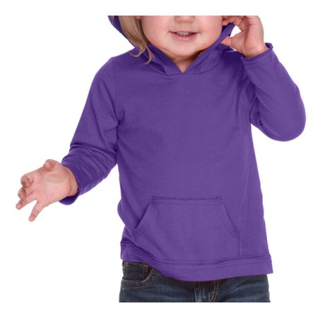 Design Your Own Purple Long Sleeve Hoodie with Pouch