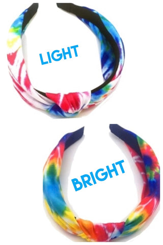 Tie Dye Top Knot Headband