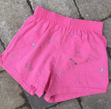 BASICS-Girls Soffe Shorts-Pink with paint only