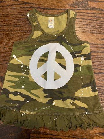 Camo Dress-sz 12 mos-GIT