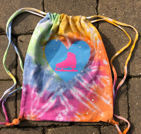 Eternity Tie Dye Sweatshirt Cinch Bag