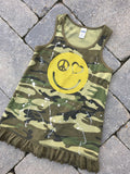 Camo Tank Dress with Peace/Heart Eyes Smiley