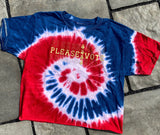 Cropped PLEASE VOTE Tie Dye Short Sleeve