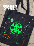 Custom Splatter Painted Halloween Trick or Treat Bags