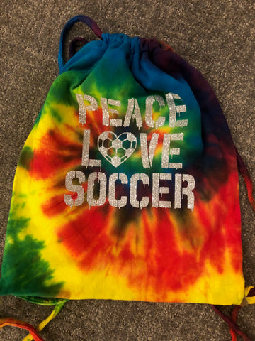 Reactive Rainbow Tie Dye Sweatshirt Cinch Bag