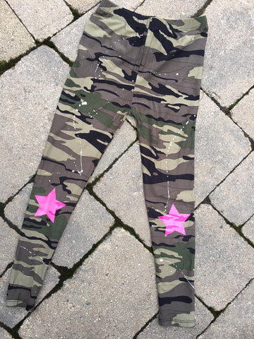 Camo Leggings with Stars