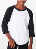 Design Your Own Black 3/4 Sleeve Raglan