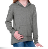 Design Your Own Grey Long Sleeve Hoodie with Pouch