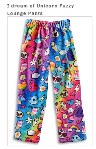 I dream of Unicorn Fuzzy Pants