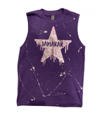 Muscle Tank with Metallic Drippy Splatter Star