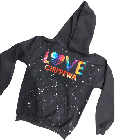 LOVE Rainbow Foil Camp Sweatshirt