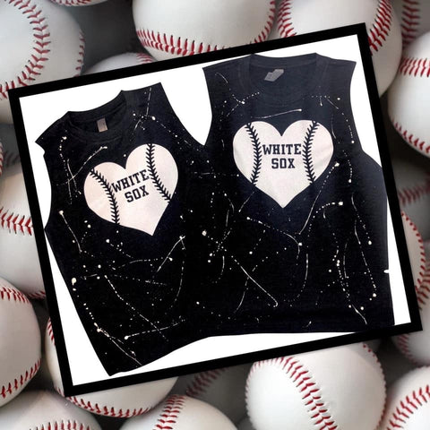 Baseball heart muscle tee