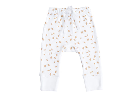 Organic Cotton Baby Pant  - AUTUMN LEAVES GOLD