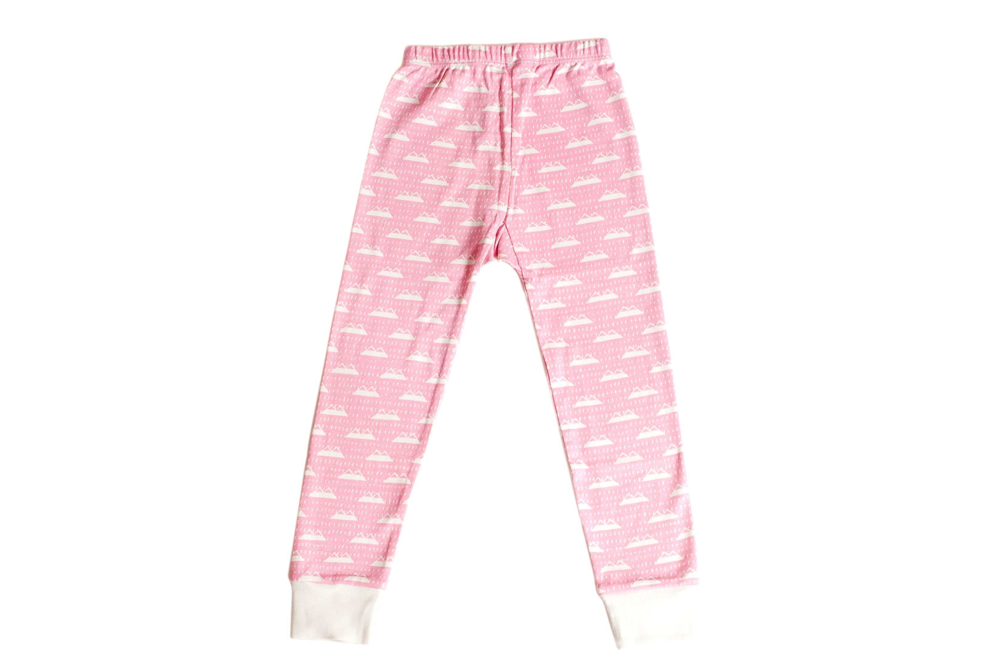 Organic Cotton Kids Long John PJ Set - BE BRAVE CANDYPINK