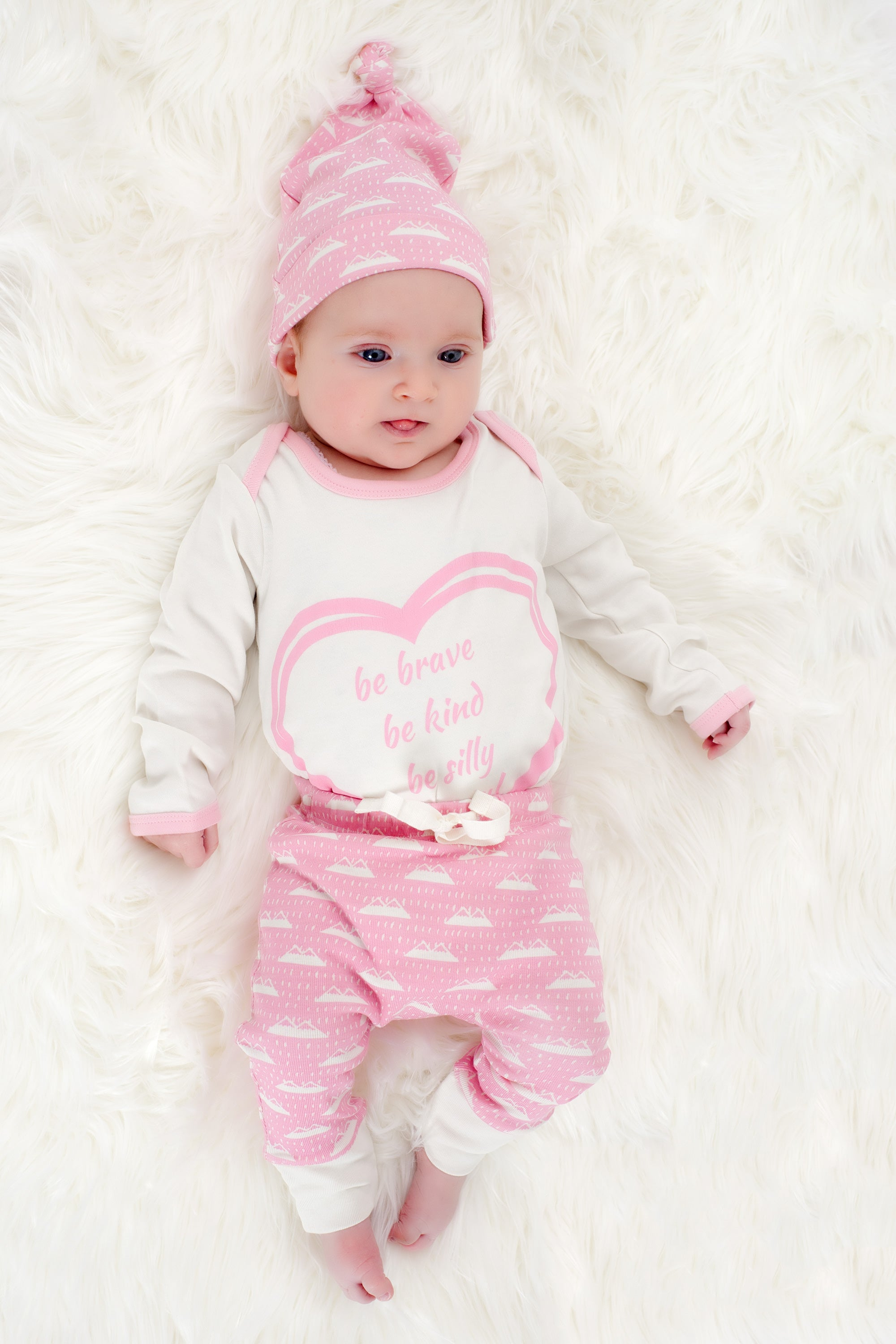 Organic Cotton Baby Pant -  SNOW MOUNTAIN CANDYPINK
