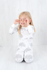 Organic Cotton Kids Long John PJ Set - Springtime Garden