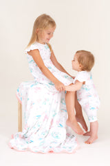 Organic Cotton Girls Summer Dress - Springtime Dream(Size 2-5)