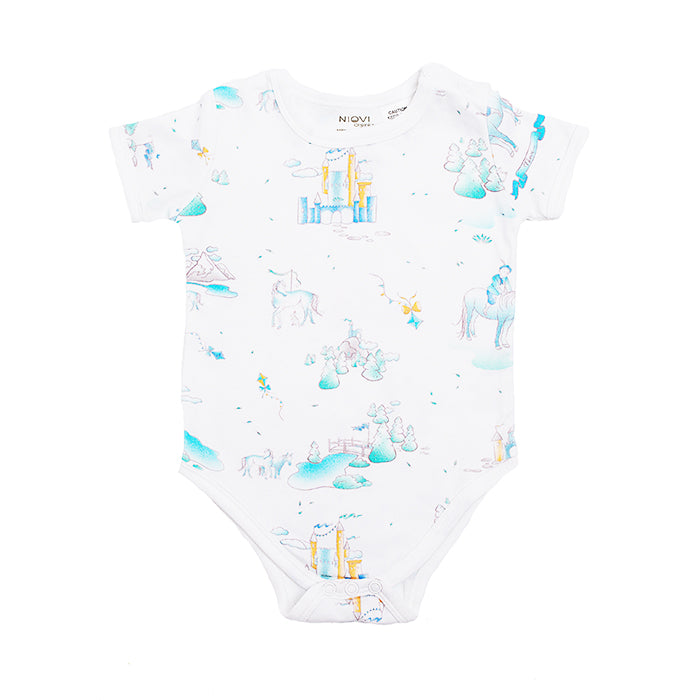 Organic Cotton Short Sleeve Bodysuit - Springtime Play