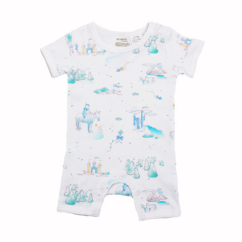 Organic Cotton Summer Growsuit - Springtime Play
