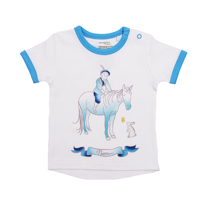 Organic Cotton Short Sleeve Baby T-Shirt - Springtime Prince