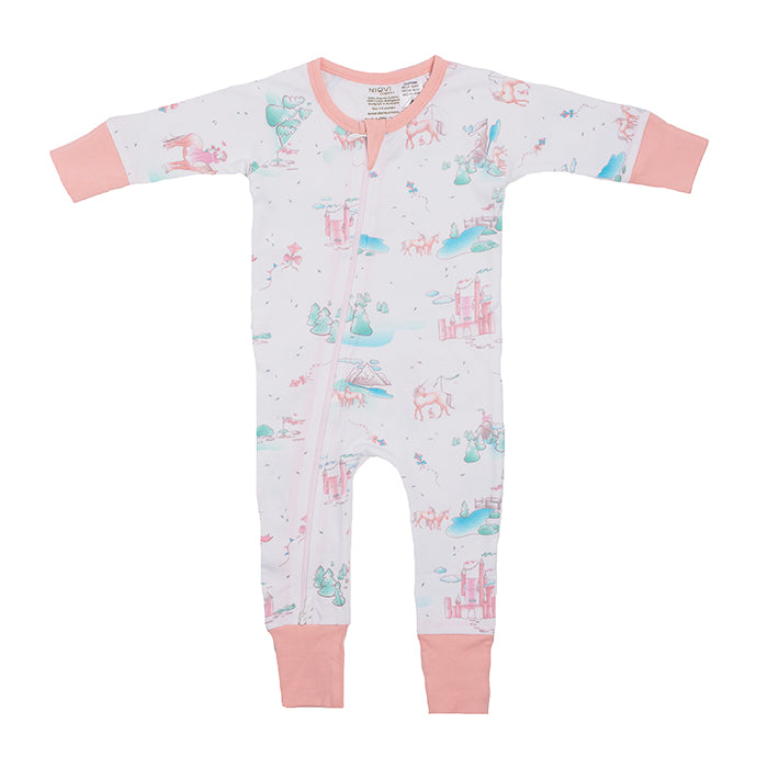 Organic Zip Romper - Springtime Dream