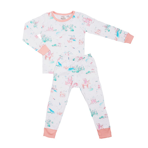 Organic Cotton Kids Long John PJ Set - Springtime Dream