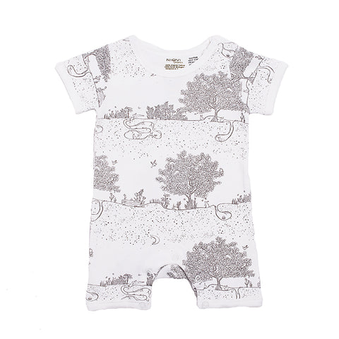 Organic Cotton Summer Growsuit - Springtime Garden