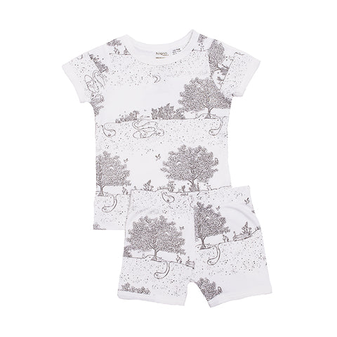 Organic Cotton Kids Short John PJ Set - Springtime Garden