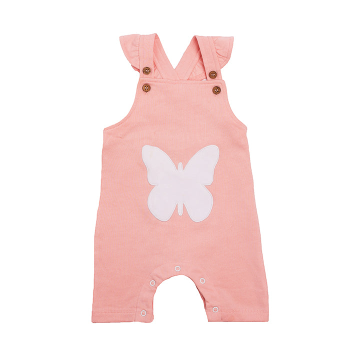 Organic Cotton Baby Girl Overall - Butterfly