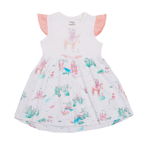 Organic Cotton Girls Summer Dress - Springtime Princess(Size 2-5)