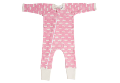Organic Zip Romper - SNOW MOUNTAIN CANDYPINK
