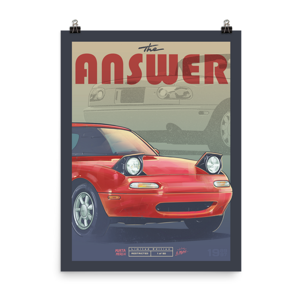 The ANSWER Poster - LIMITED