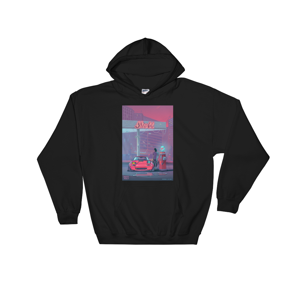 RetroFuturistic Gas Station Hoodie Men's/Women's