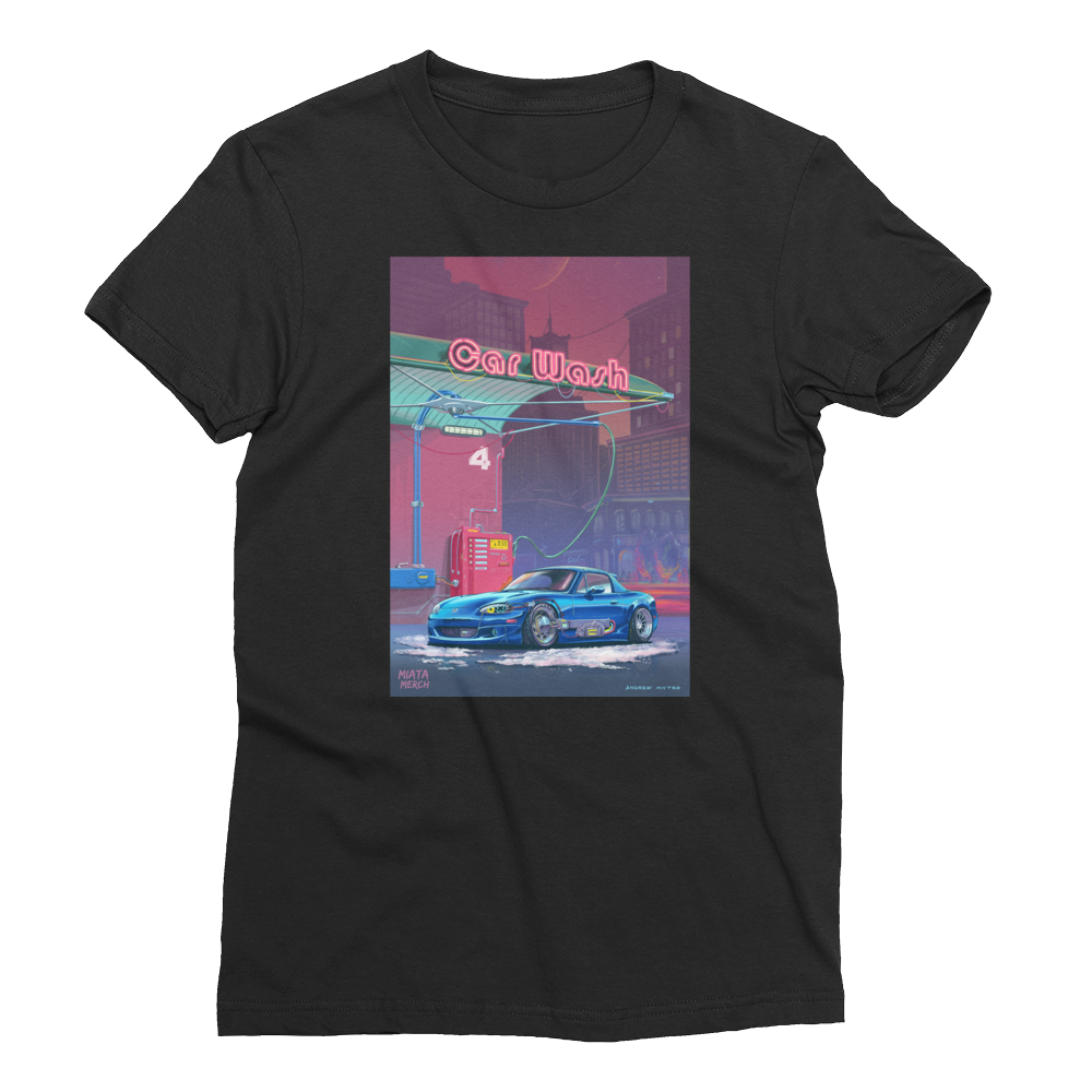 RetroFuturistic Car Wash Tee Women's