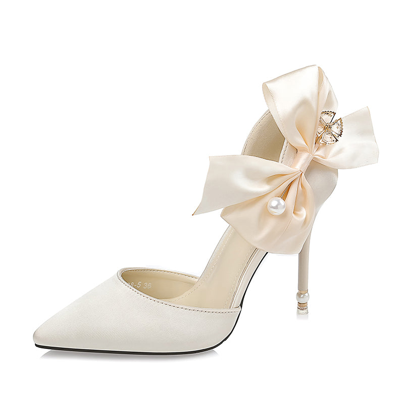 High heels, Luxury pearl rhinestones bride butterfly-know High heels