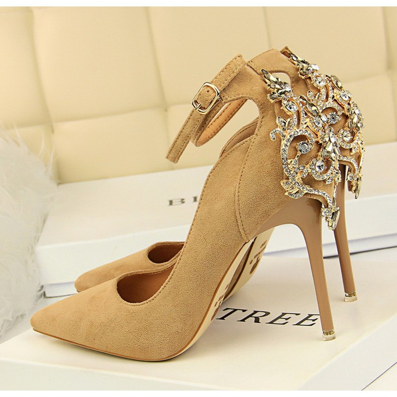 Pumps, Veda pointed rhinestones ankle heels