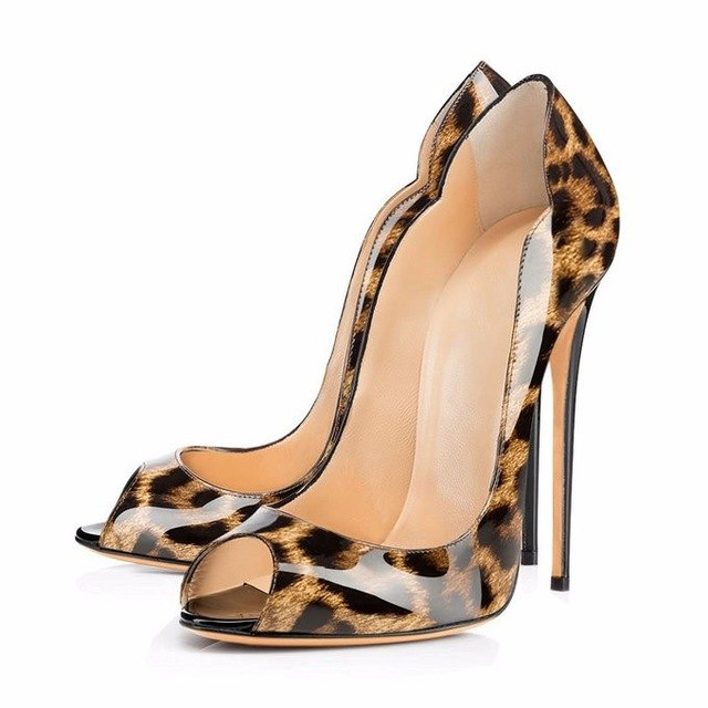 Pumps, Royal peep toe carve heels